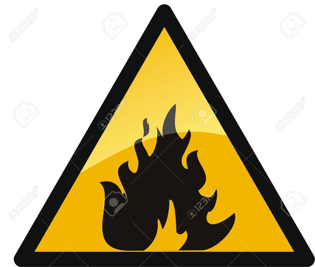 Warning fire sign. Stock Vector - 6106701