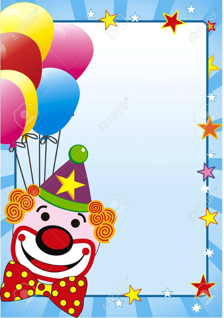 illustration with balloon and clown for party Stock Vector - 6166508