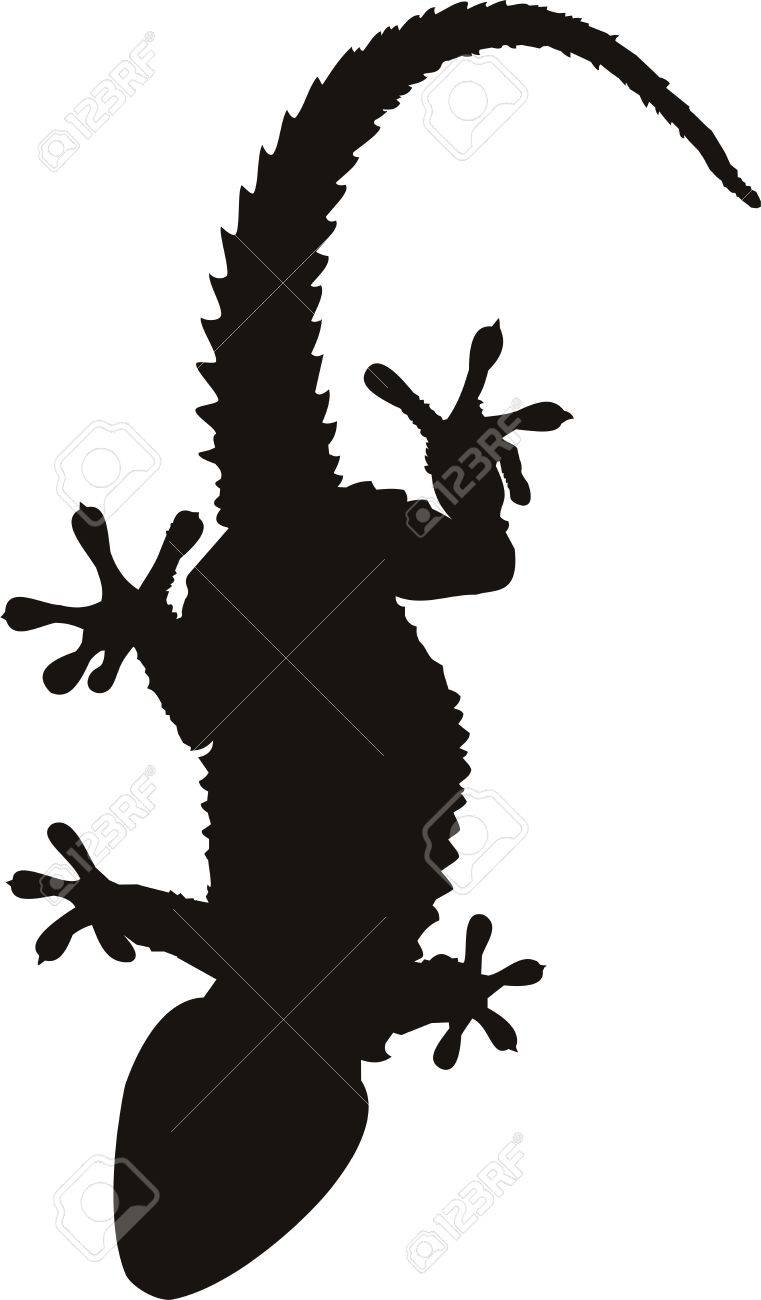 0161c118c Gecko Tattoo Isolated On Withe Background Royalty Free Cliparts ...