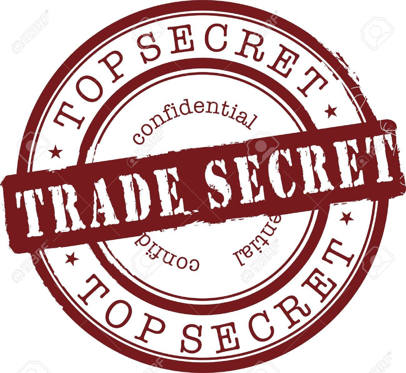 trade secret stamp with red ink. Isolated Stock Vector - 6883643
