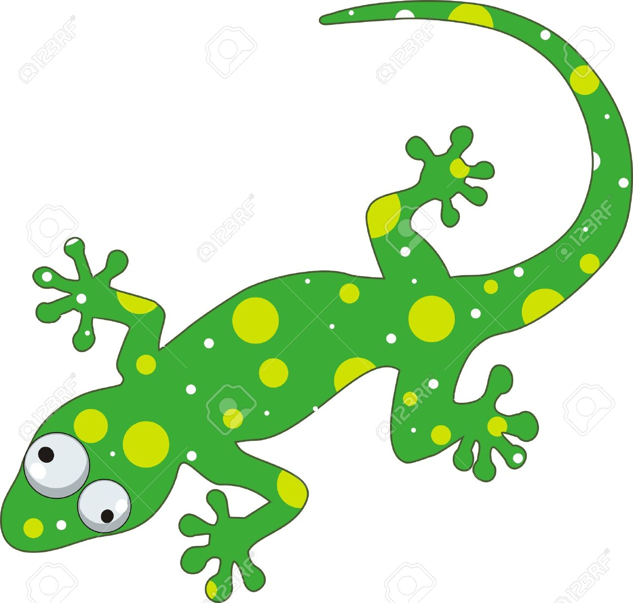 gecko isolated  green gecko  Lizard Clipart