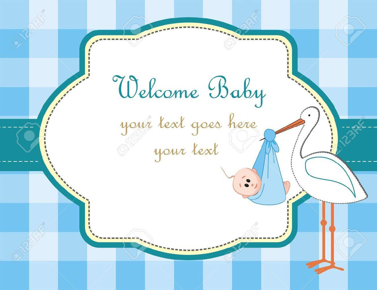 baby boy arrival announcement royalty free cliparts vectors and