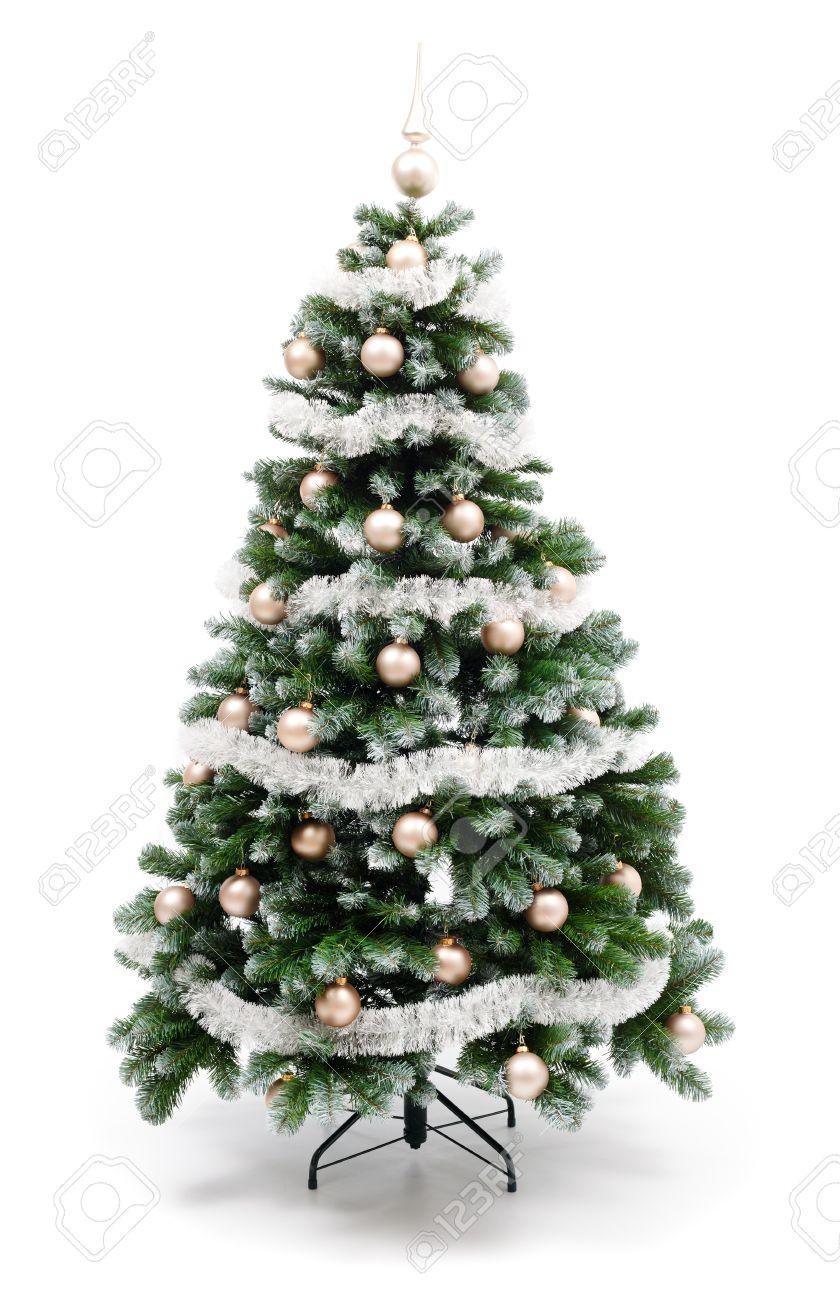 Weihnachtsbaum Silber Weiß.Stock Photo