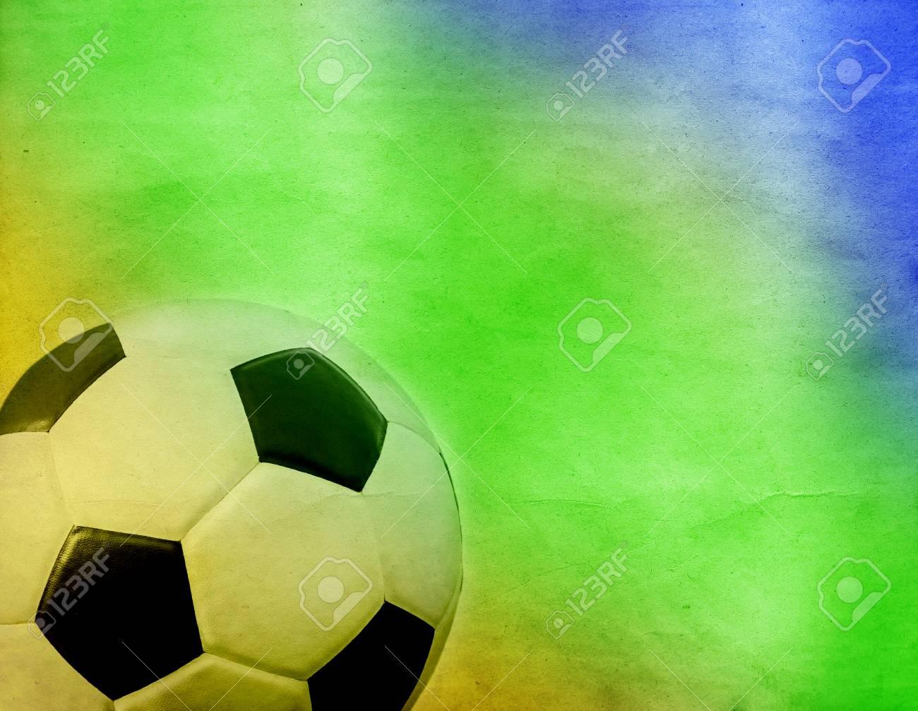 Vintage Foto - Fußball Und Die Farben Der Brasilien-Flagge ...