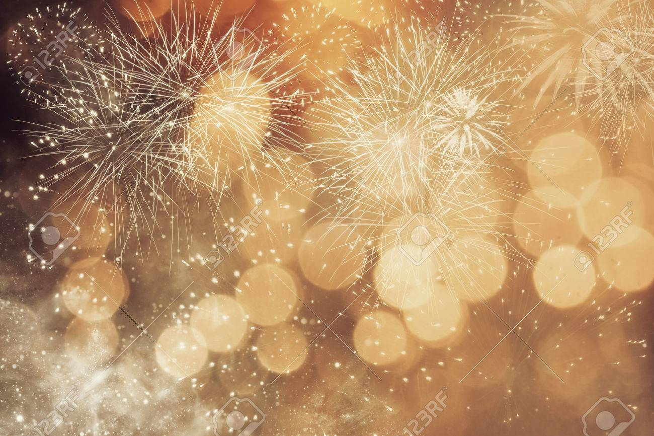 Abstract Christmas background with fireworks - 50253198