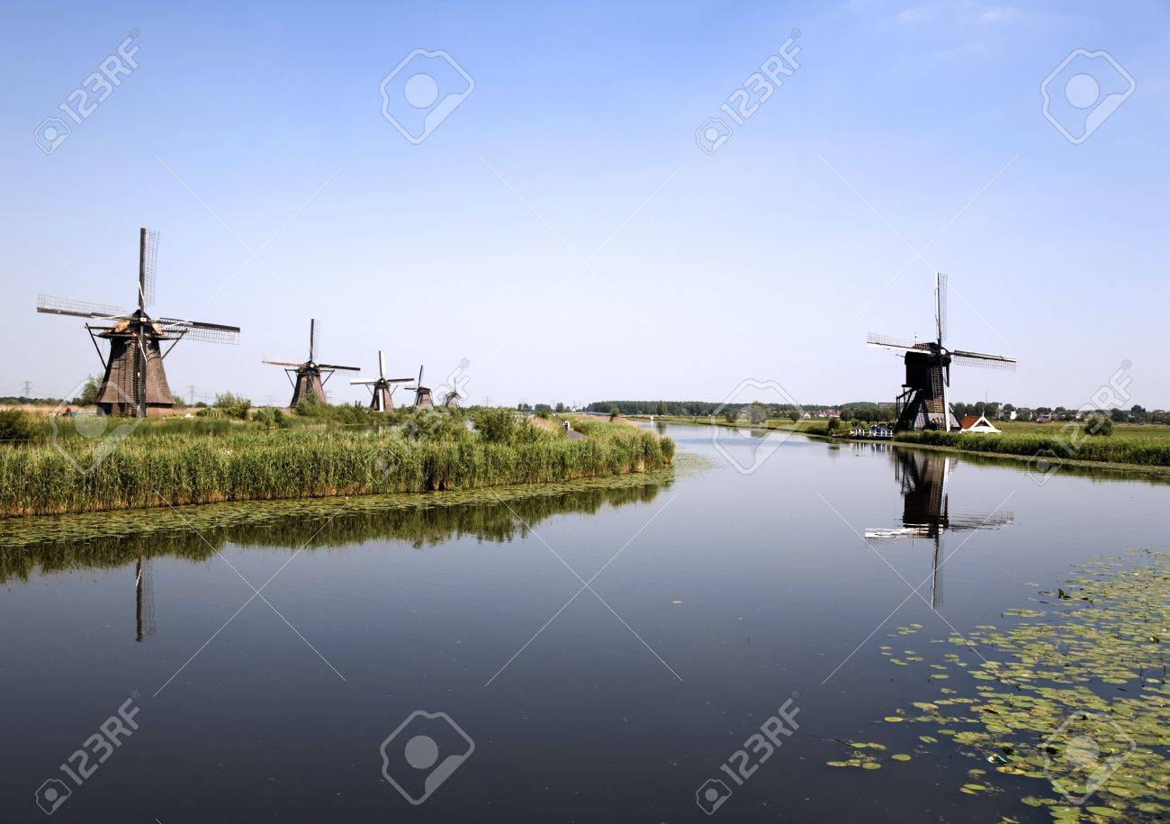 Dutch windmills in Kinderdijk 6 Stock Photo - 438855