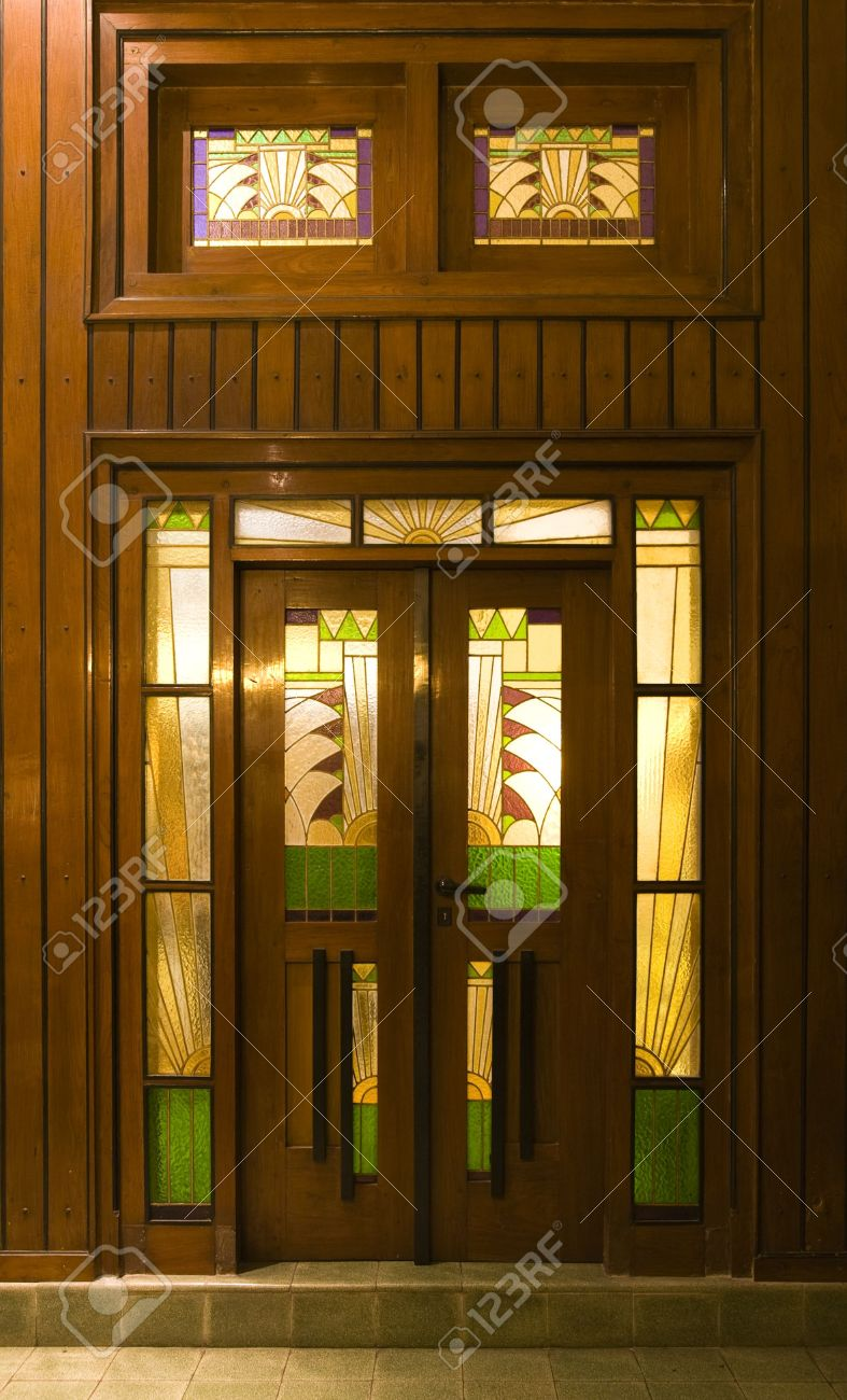 Art deco door Stock Photo - 7760081 & Art Deco Door Stock Photo Picture And Royalty Free Image. Image ...