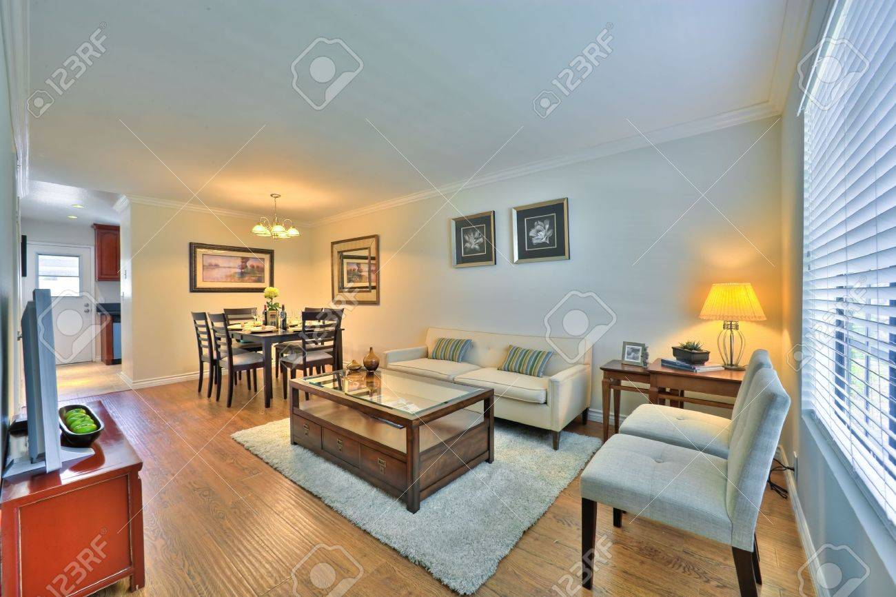 Well Appointed Showcase Living Room With Interior Decoration Stock Photo    2658661