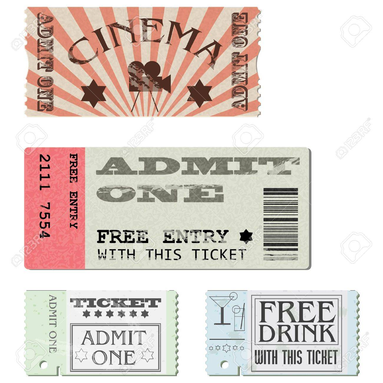 Tickets in different styles Stock Vector - 13119977