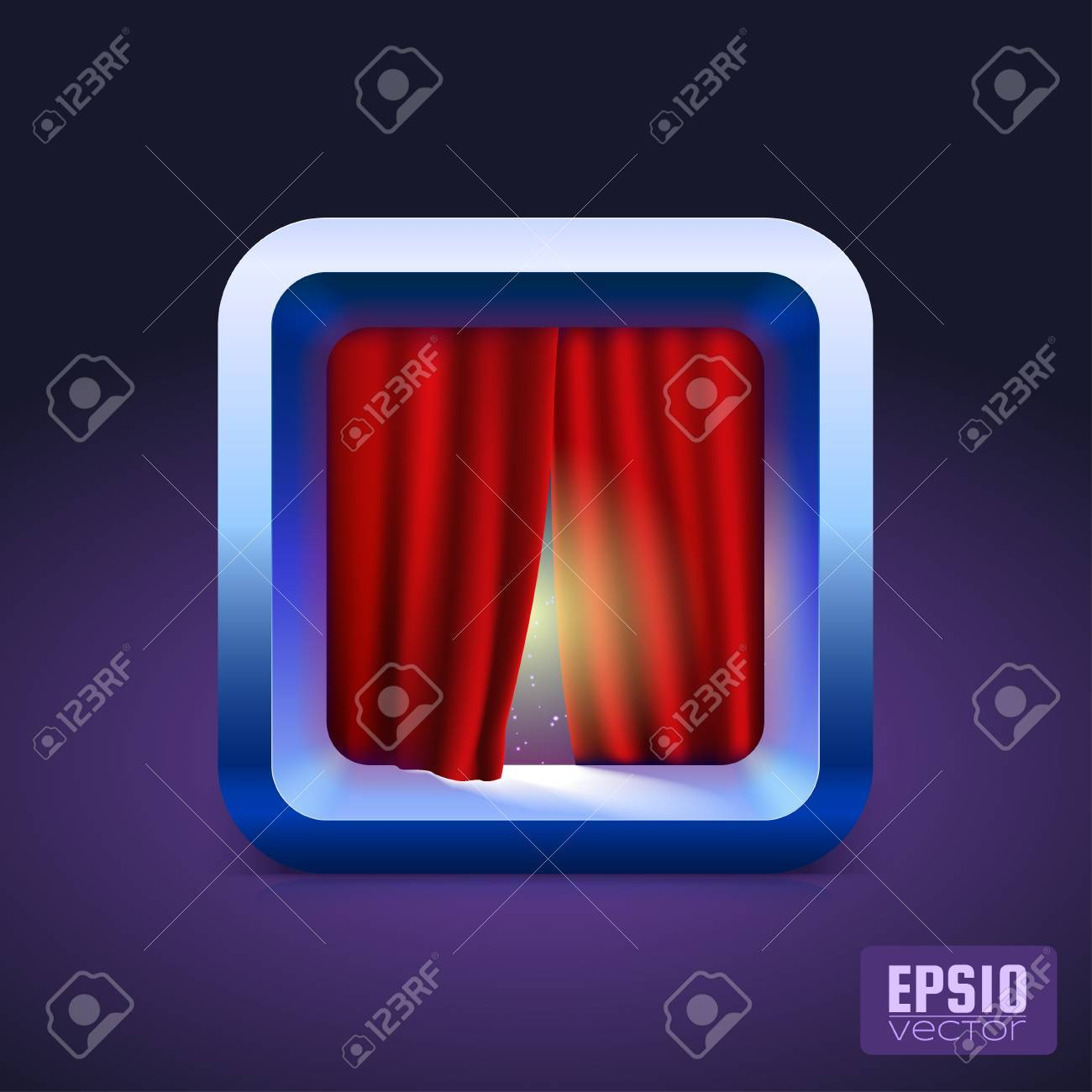 Theater curtain icon IOS style  Vector illustration for your design Stock Vector - 16675054