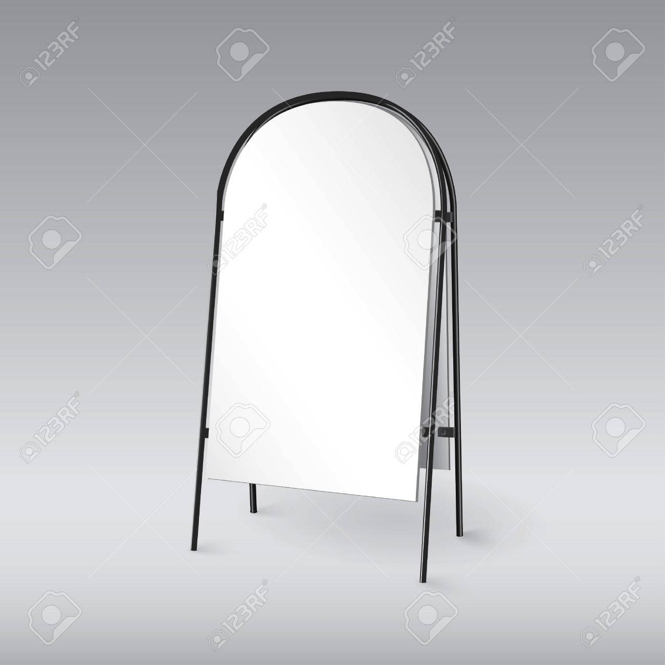 Blank Sandwich Board Isolated, Template For Your Design Royalty Free ...