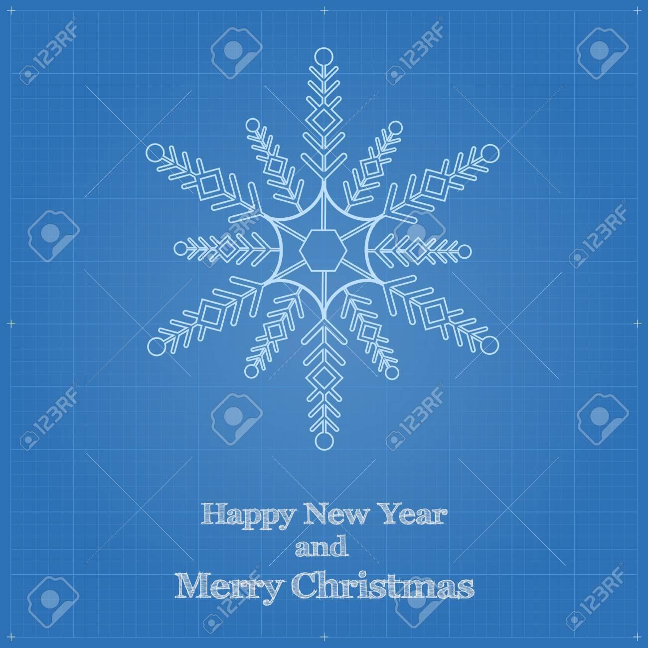 Snowflake symbol like blueprint drawing drawing of snow sign snowflake symbol like blueprint drawing drawing of snow sign on blueprint paper stock vector malvernweather Gallery