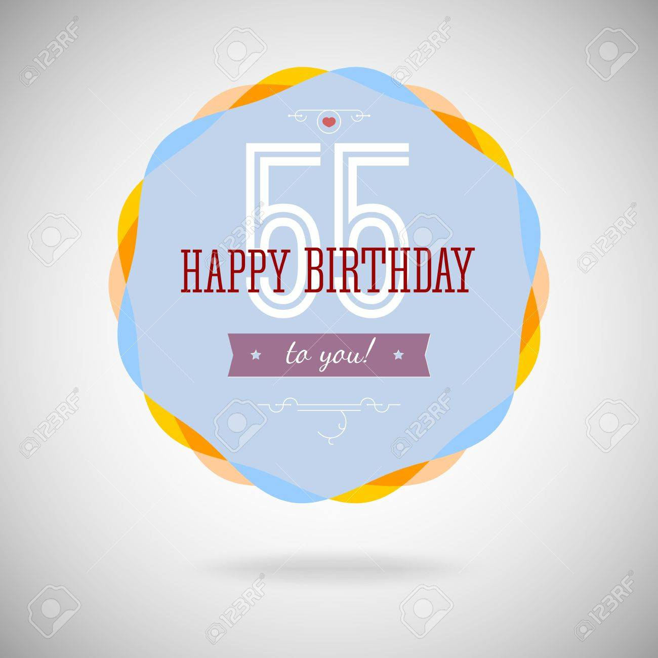 Congratulatory badge for the fifty-five year. 55 years happy birthday.  Congratulatory sign af7018e39f