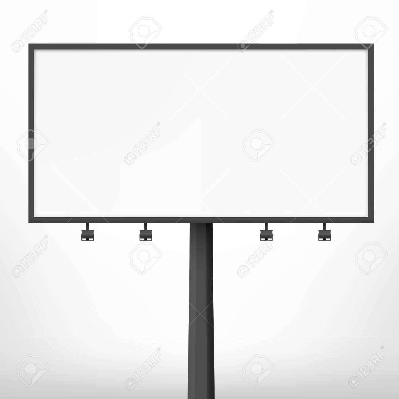 Blank Black Billboard Vector Illustration Template For Your