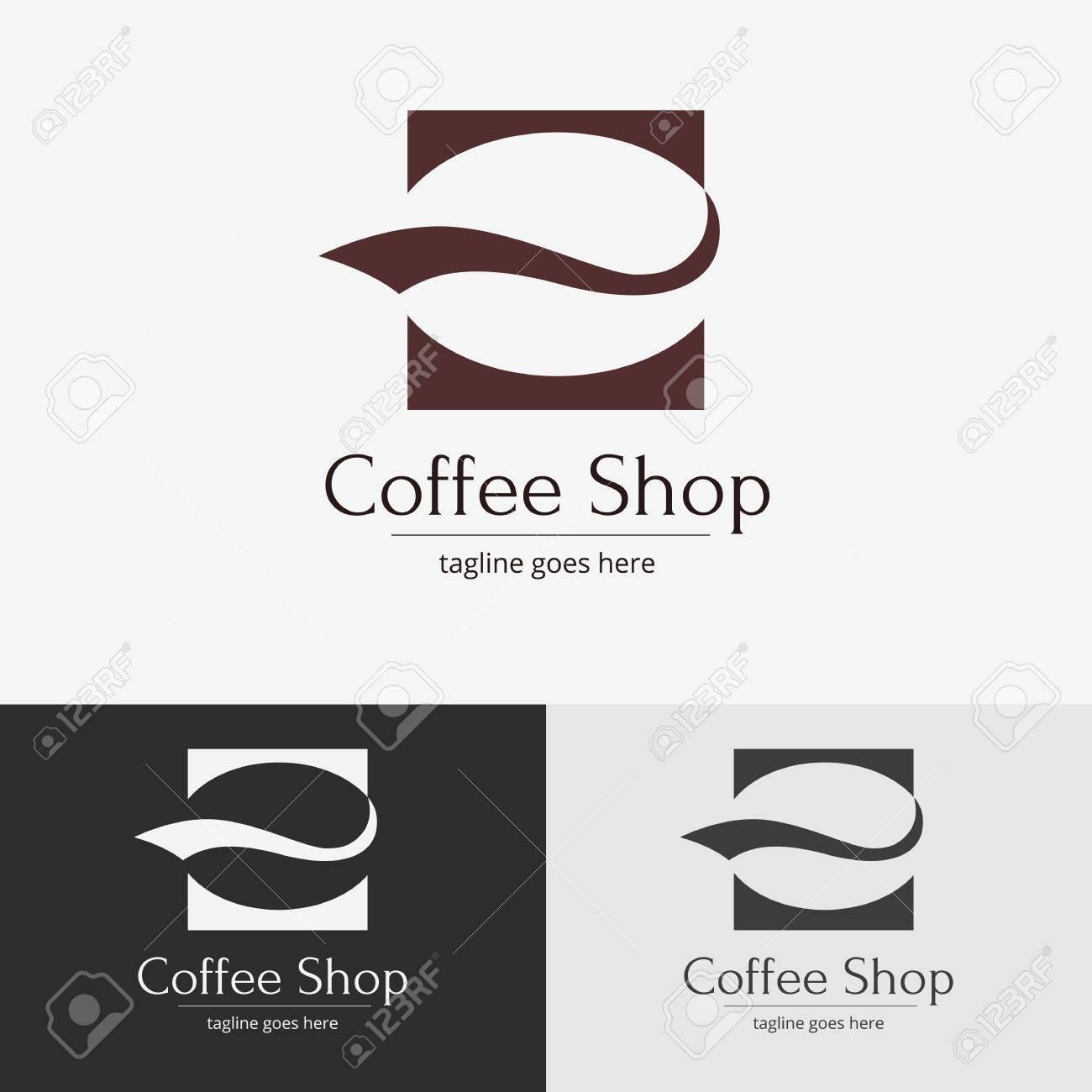 Coffee shop design  Vector symbol for design
