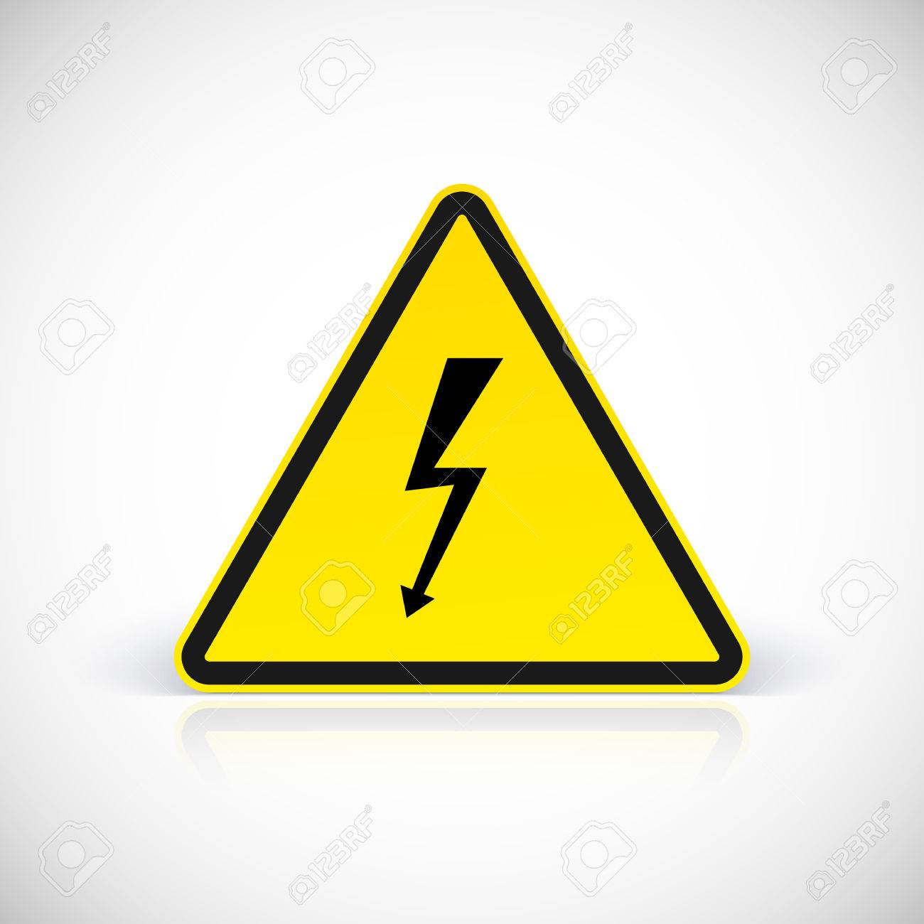 Cute electrical shock symbol gallery electrical and wiring attention electric shock signs symbol vector illustration for biocorpaavc Choice Image