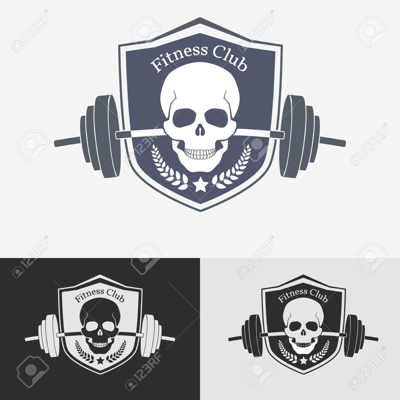 Athletic Gym Logo Concept Symbol For Sport Athletic Club Vector