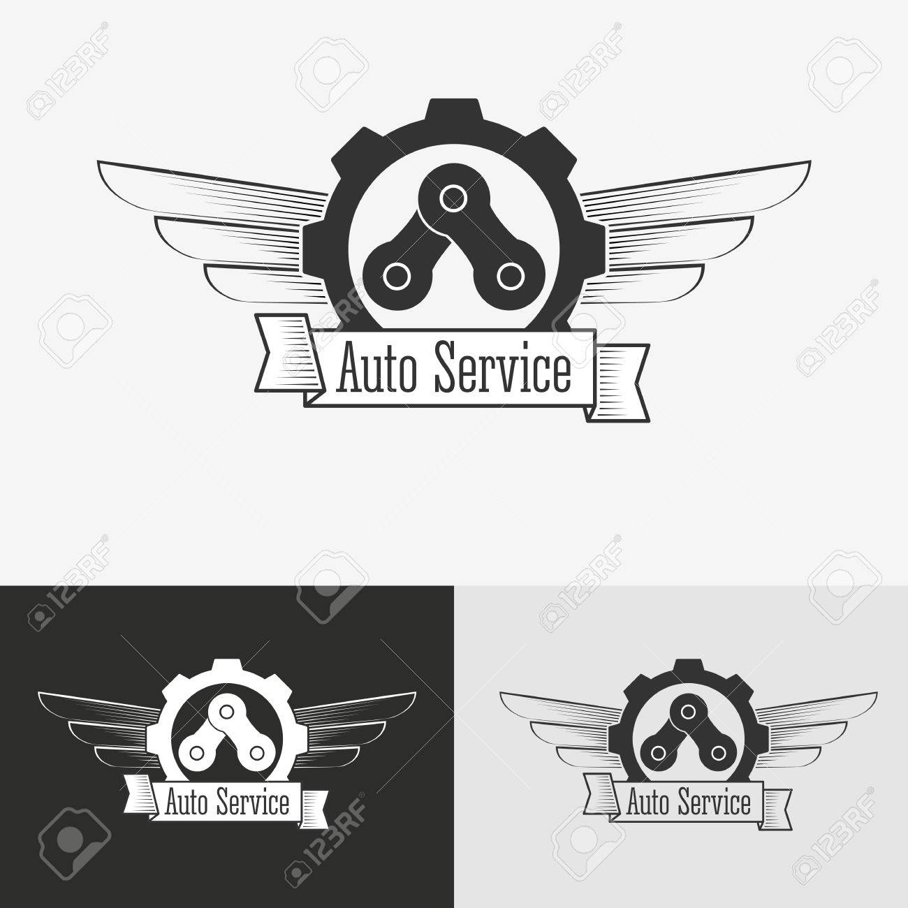 Auto Logo Design Template Concept For Automobile Repair Service Royalty Free Cliparts Vectors And Stock Illustration Image 49480808