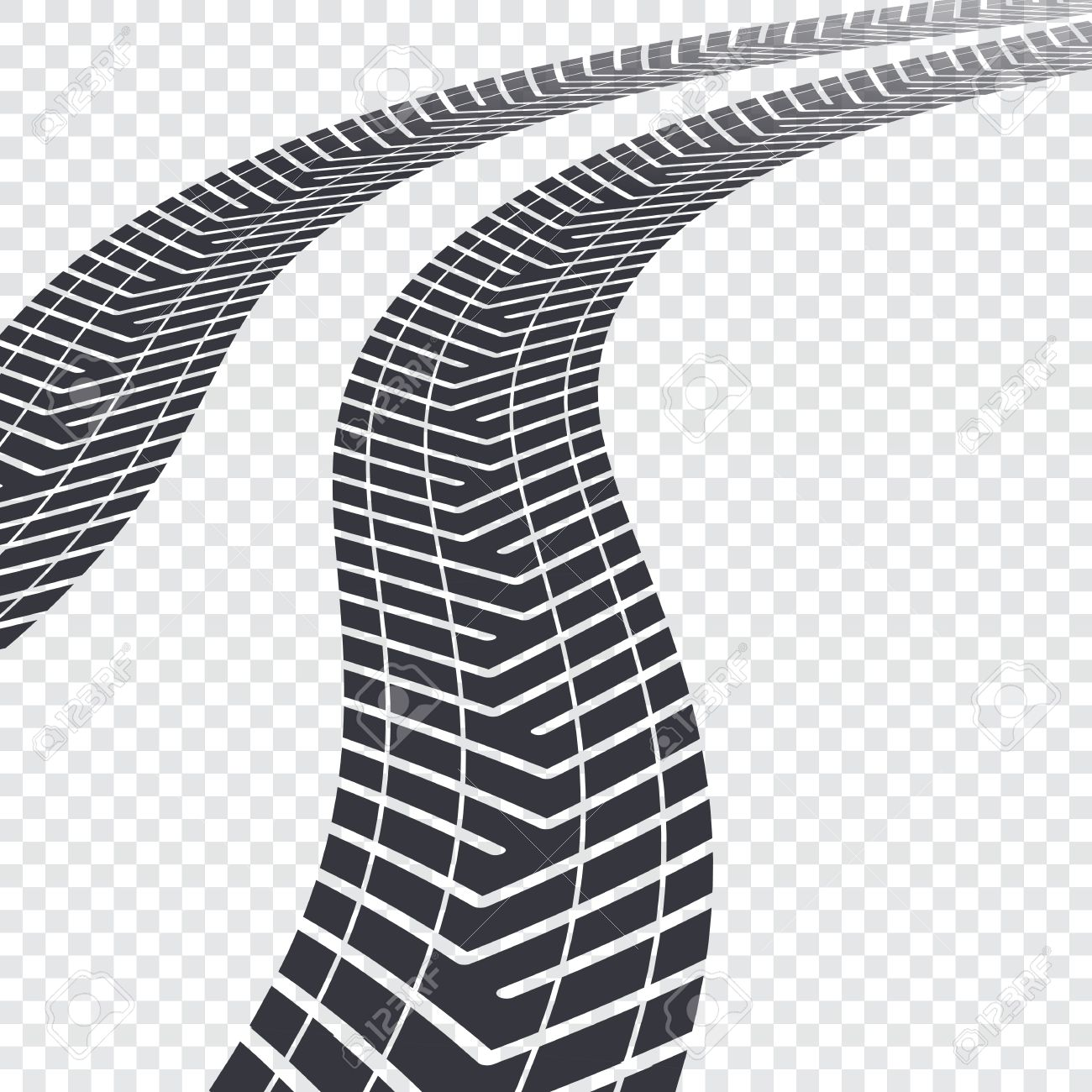 winding tire tracks on transparent background vector illustration rh 123rf com muddy tire tracks clipart jeep tire tracks clipart