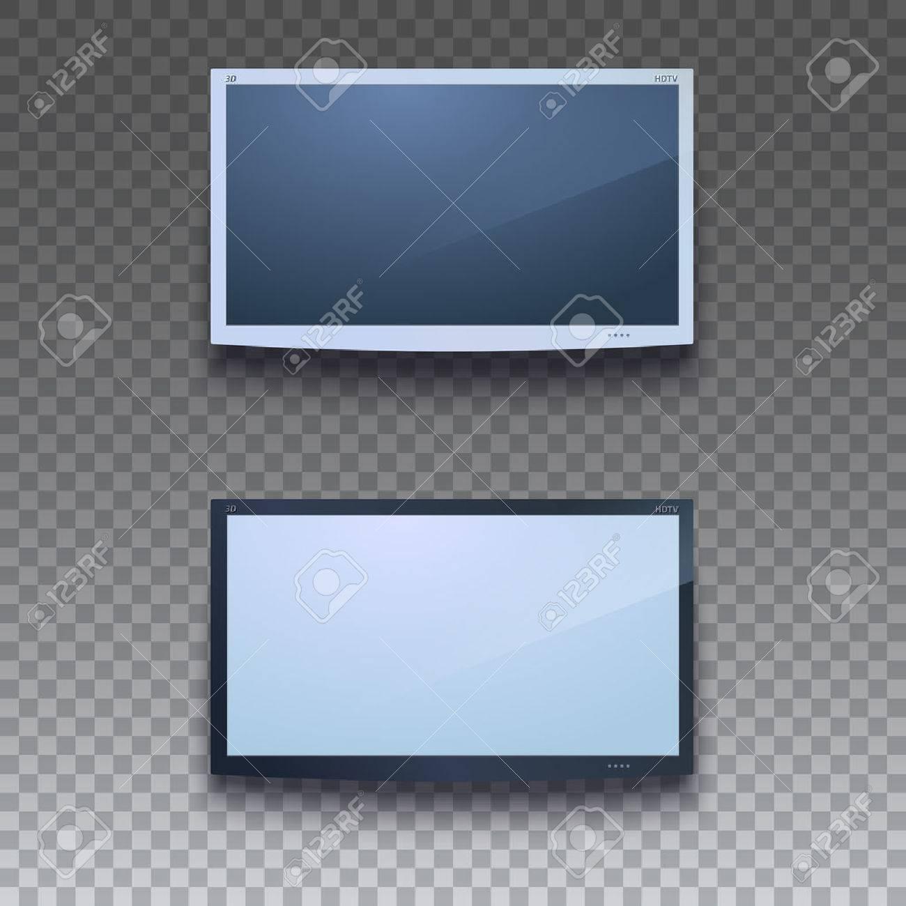 Fernseher Hintergrund led-fernseher an der wand auf transparentem hintergrund hängen. zwei