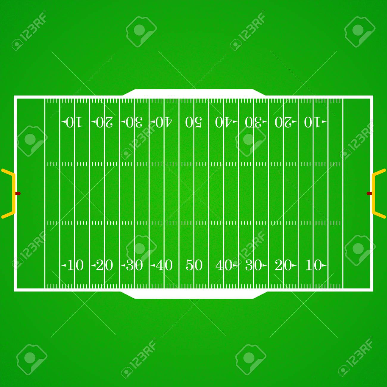 A Realistic Aerial View Of An Official American Football Field