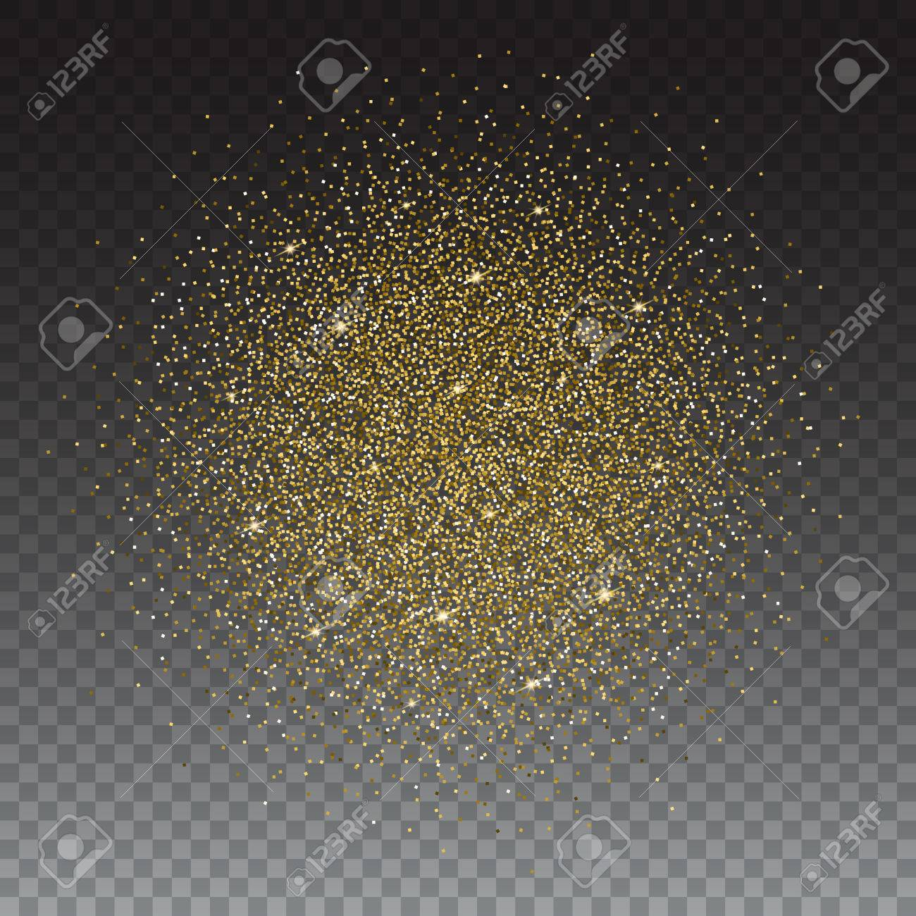 Gold glitter bright vector transparent background golden sparkles - Gold Glitter Bright Vector Transparent Background Golden Sparkles Shiny Texture Excellent