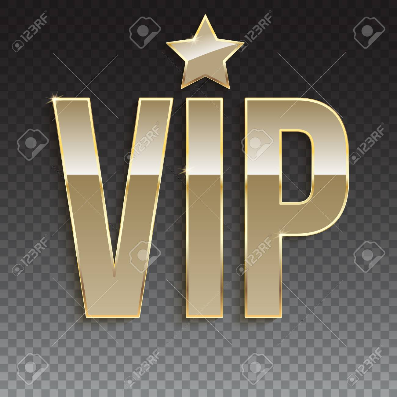 Golden Symbol Of Exclusivity The Label Vip Very Important Person