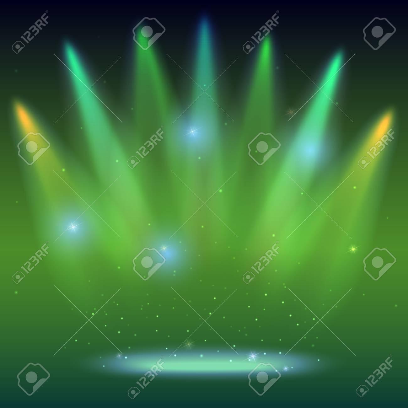 Fondo Con Rayos De Luz De Los Focos De Colores Iluminación