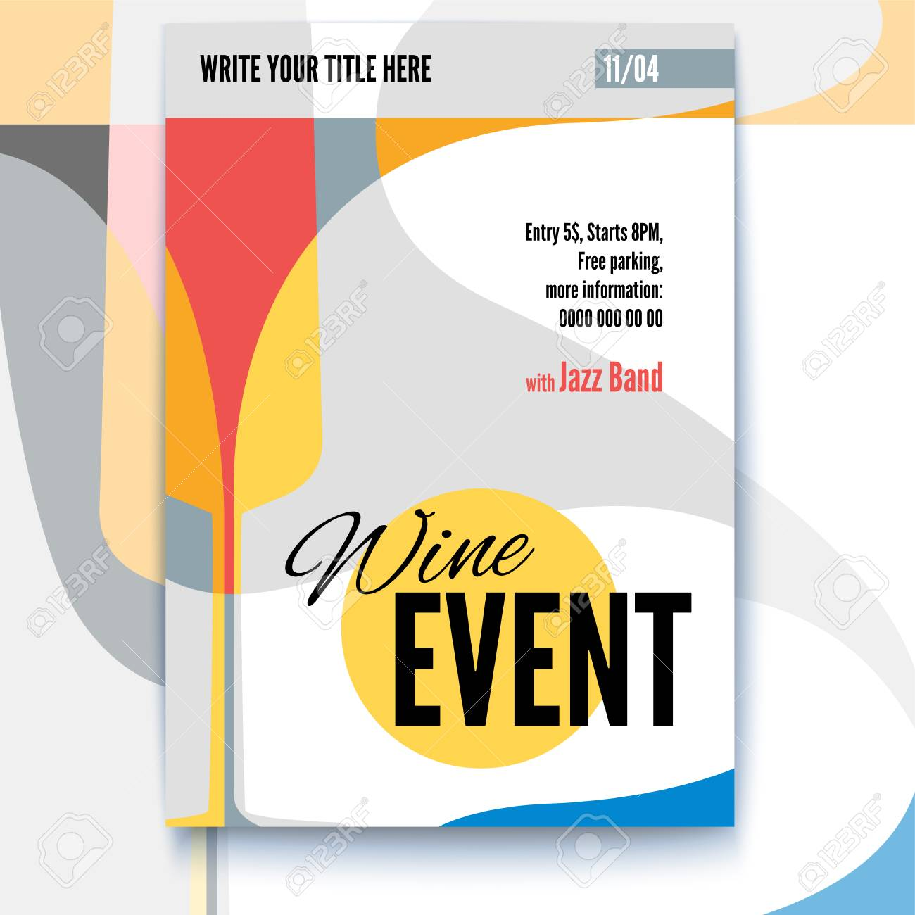 Vector Template Of Poster Design Layout For Brochure Banner