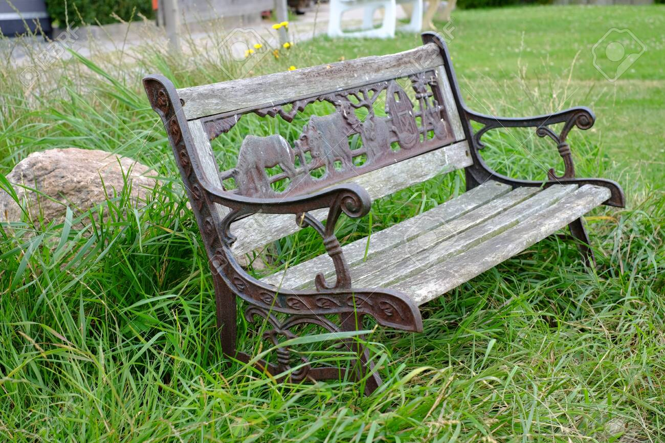 Excellent Cast Iron Old Bench In The Garden Cjindustries Chair Design For Home Cjindustriesco