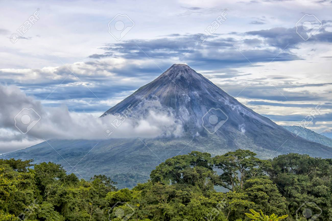 Arenal Volcano In Costa Rica Stock Photo Picture And Royalty Free Image Image 104921015