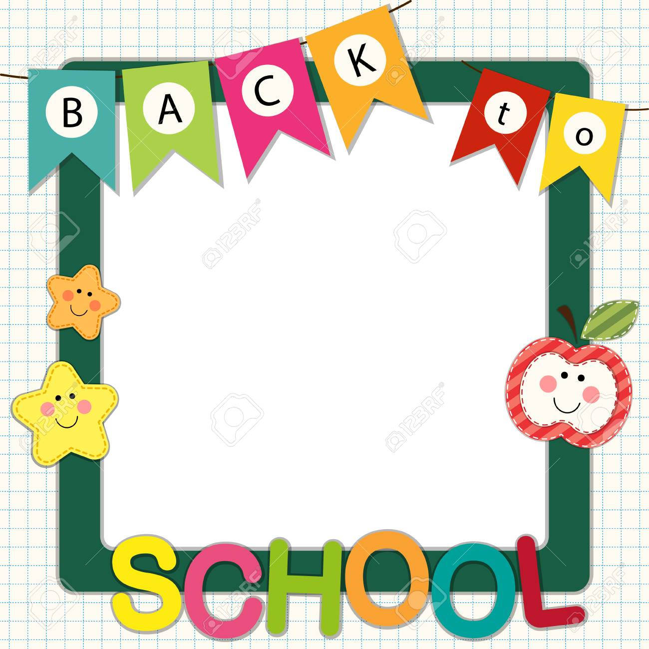 cute back to school theme frame royalty free cliparts vectors and