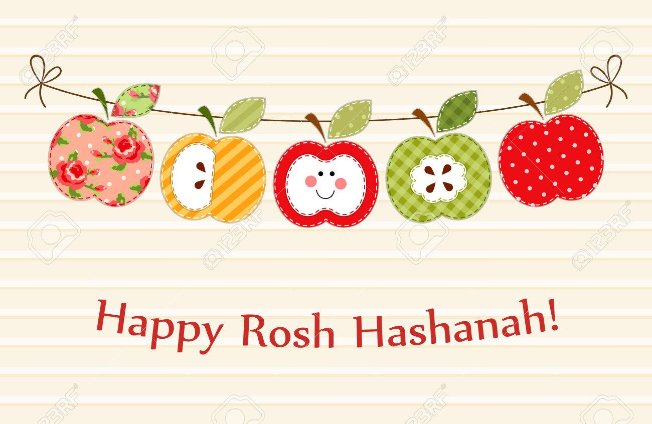 Cute bright apples garland as rosh hashanah jewish new year cute bright apples garland as rosh hashanah jewish new year symbols stock vector 81126894 biocorpaavc