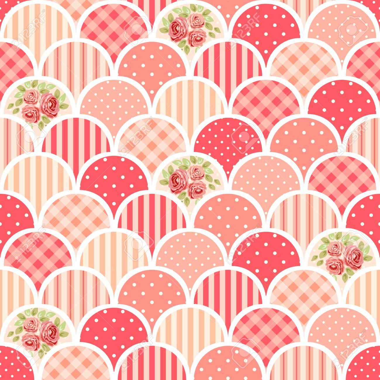 Tessuti Stile Shabby Chic.Carta D Epoca Senza Soluzione Di Continuita D Epoca Come Patchwork In Stile Shabby Chic Ideale Per Cucina Tessile O Biancheria Da Letto Tessuti