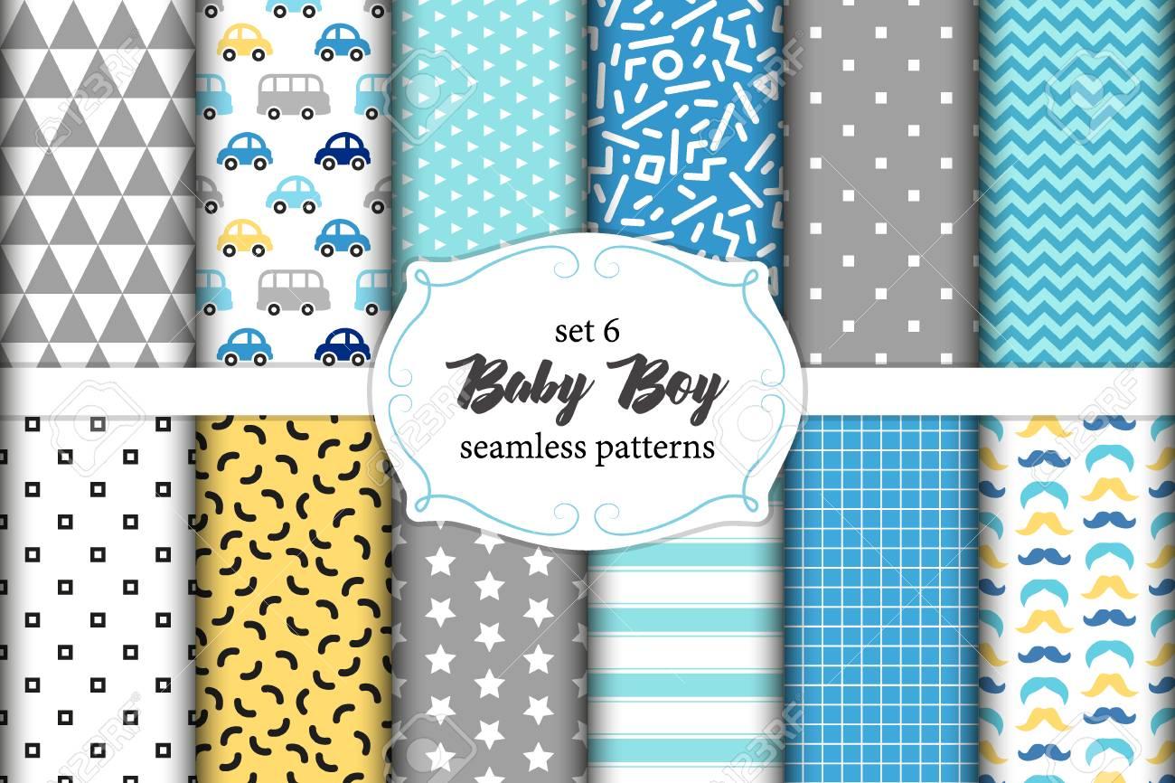 ab055564937cd Banque d'images - Mignon ensemble de scandinaves bébé garçon sans couture  avec des textures de tissu