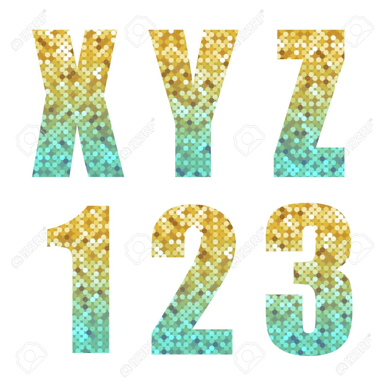 Beautiful Trendy Glitter Alphabet Letters And Numbers With Silver ...
