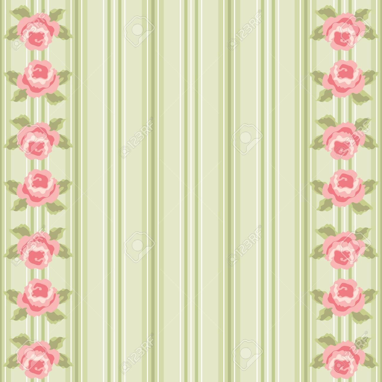 Blumenschattenbild Des Netten Vintagen Shabby Chic Für Ihre ...