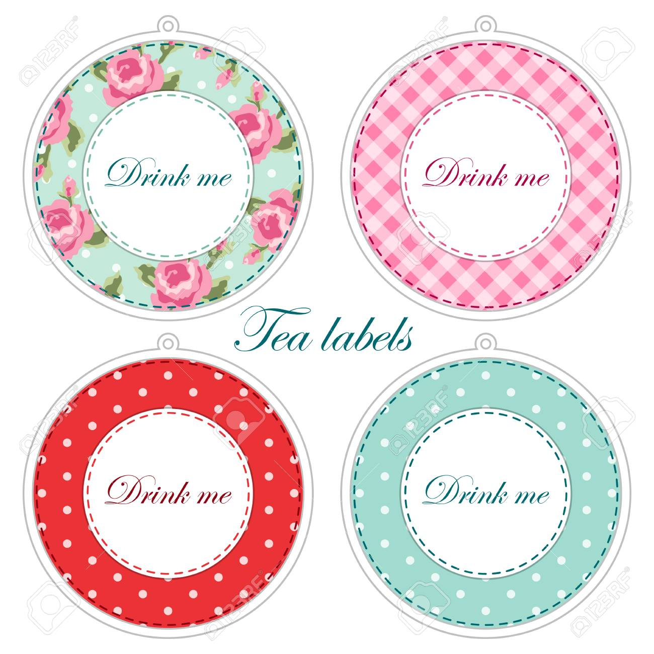 photograph about Tea Party Printable named Tea bash printables as tea labels,cupcake toppers or tags within just..