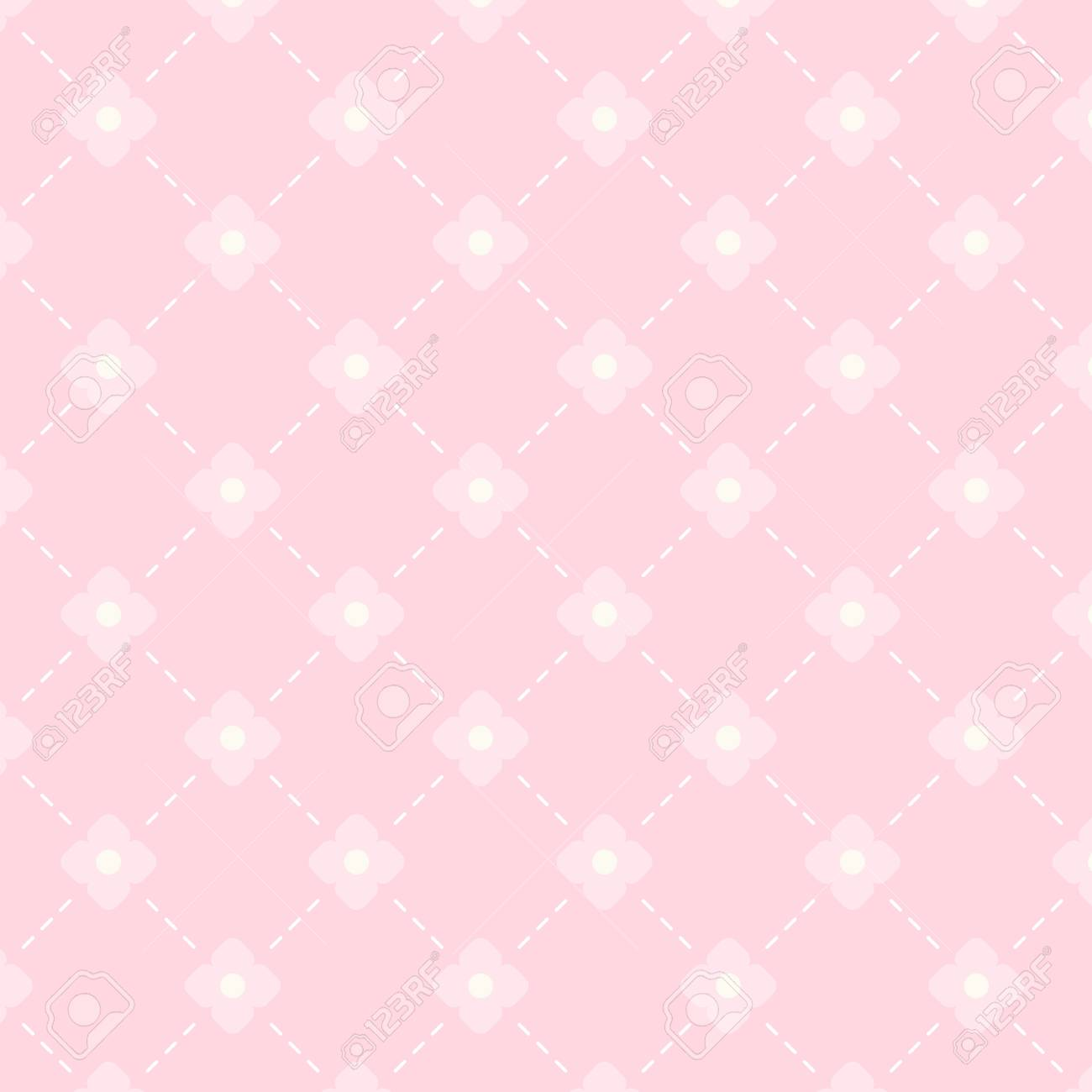 Vintage Background In Shabby Chic Style As Rhombus Pattern Royalty