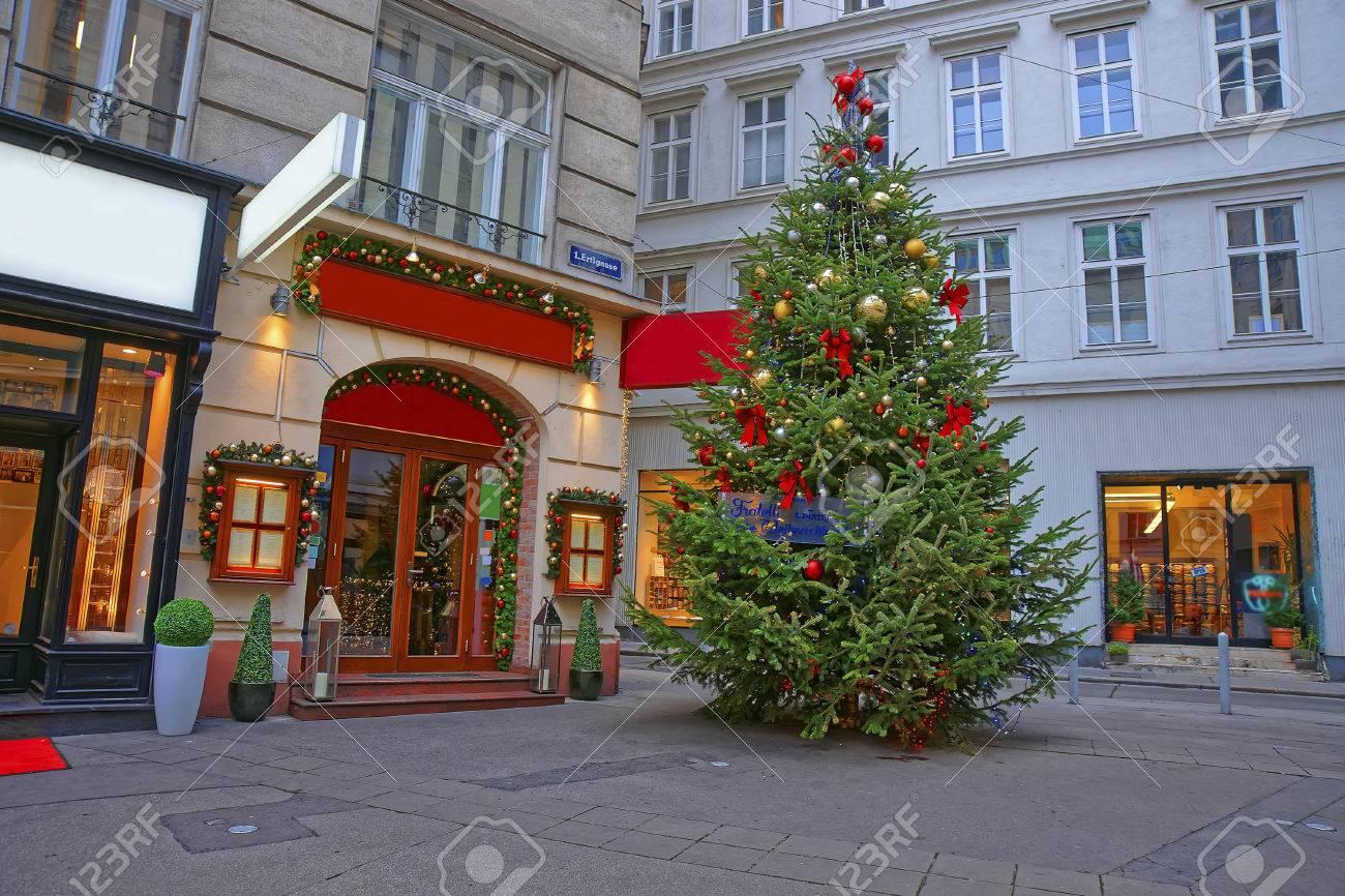 österreich Weihnachtsbaum.Stock Photo