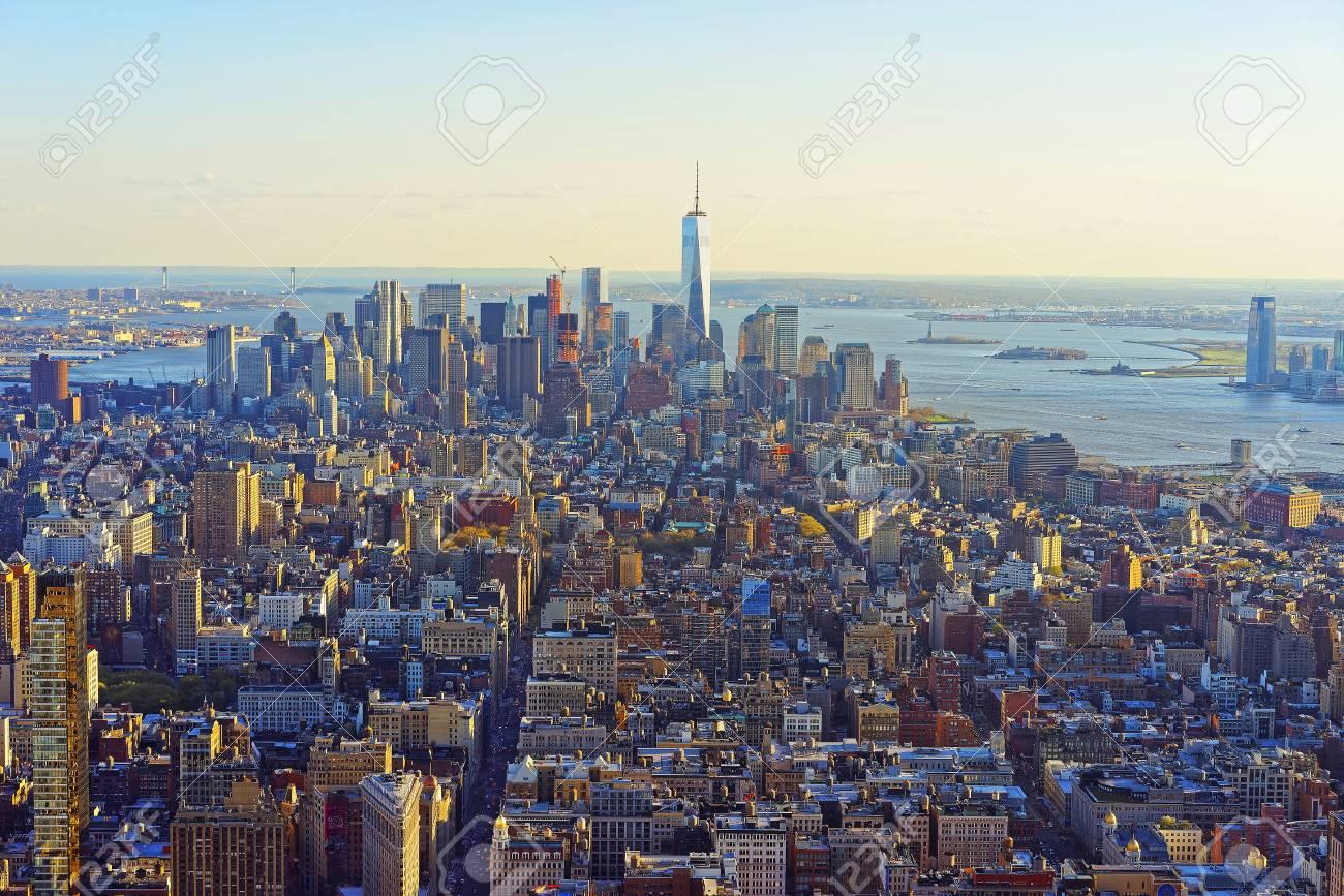 マンハッタンのダウンタウン、ロウアー ・ マンハッタン ニューヨーク ...