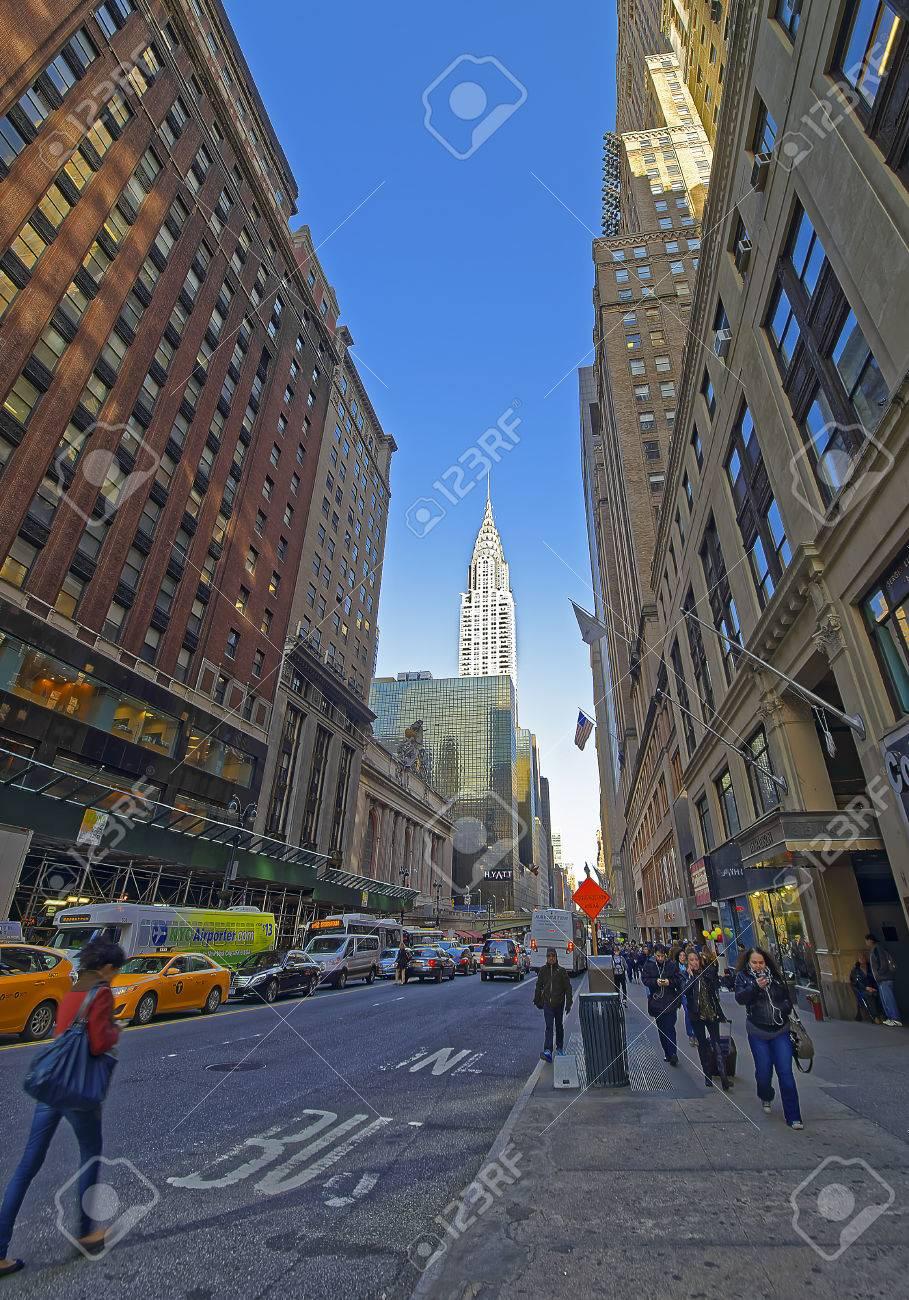 New York Usa April 26 2015 East 42nd Street And Madison Stock
