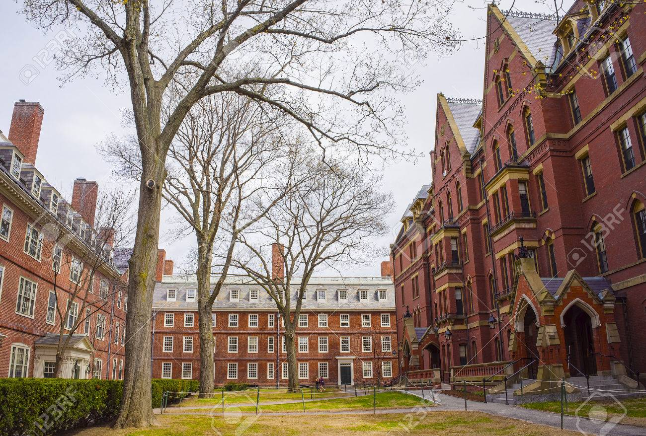 Cambridge, USA - April 29, 2015: Dormitories and Harvard Computer Society Building in Harvard Yard of Harvard University in Cambridge, Massachusetts, MA, USA. - 57703987