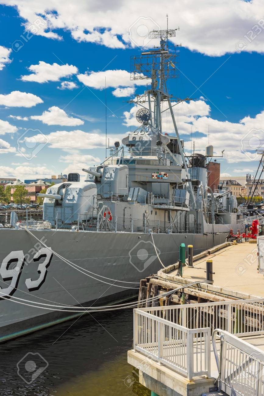 Boston, USA - April 28, 2015: Fletcher-class destroyer USS Cassin