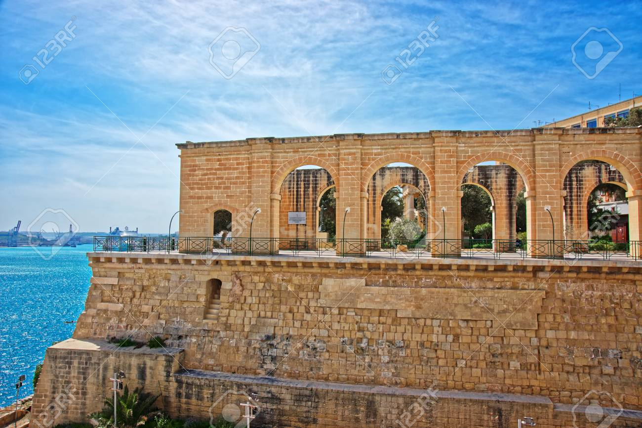 Upper Barracca Gardens Of Saint Peter And Paul Bastion In Valletta ...