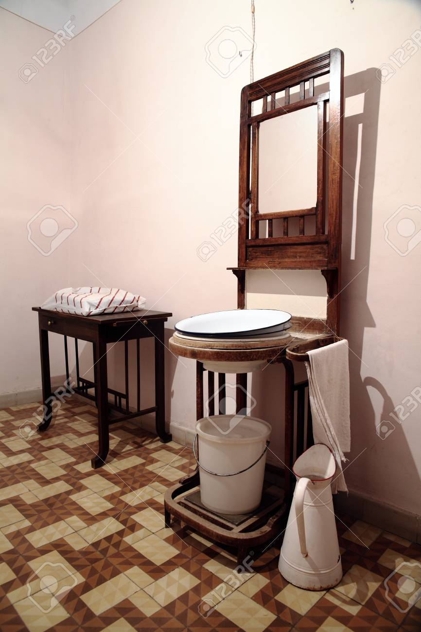 A Room With A Very Old And Vintage Sink Stock Photo, Picture And ...