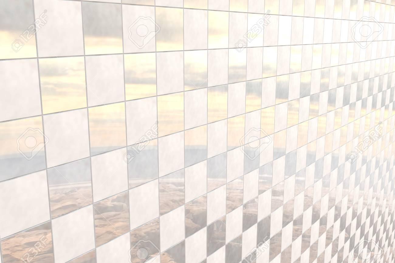 3d Rendering Von Einem Bad Fliesen Wand Lizenzfreie Fotos Bilder