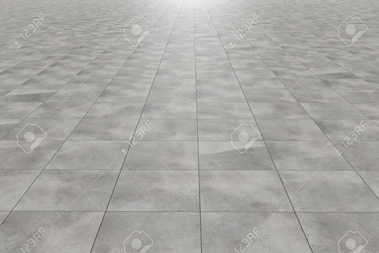 3d rendering of a square tiles floor - 45749957