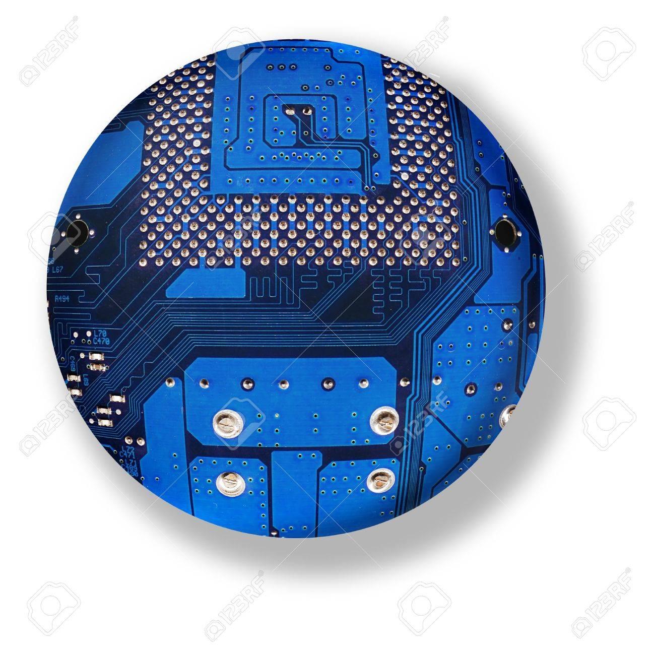 electronic board sphere, isolated cybernetic globe Stock Photo - 5752325