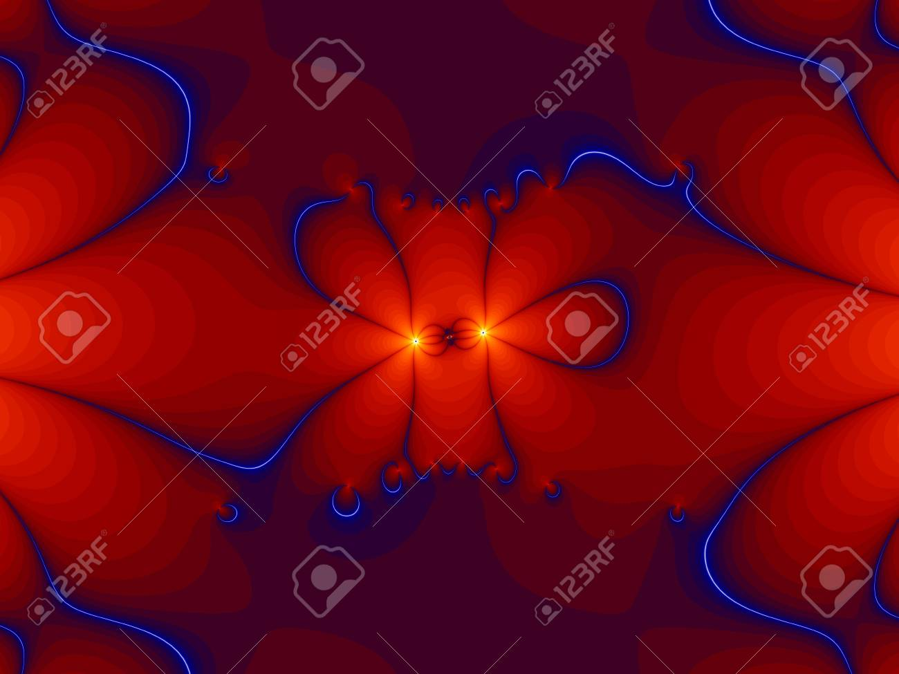 two lights on red background - abstract strange picture Stock Photo - 6143608